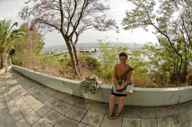 הנוף ממסעדת סולומונידי - משקיף על נמל יאכטות