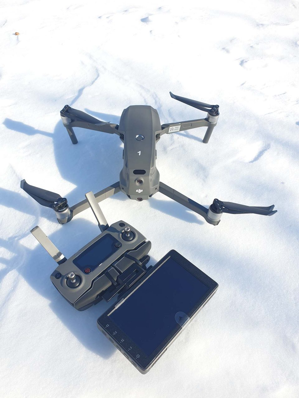 הטסת רחפן בשלג | flying drone in the snow