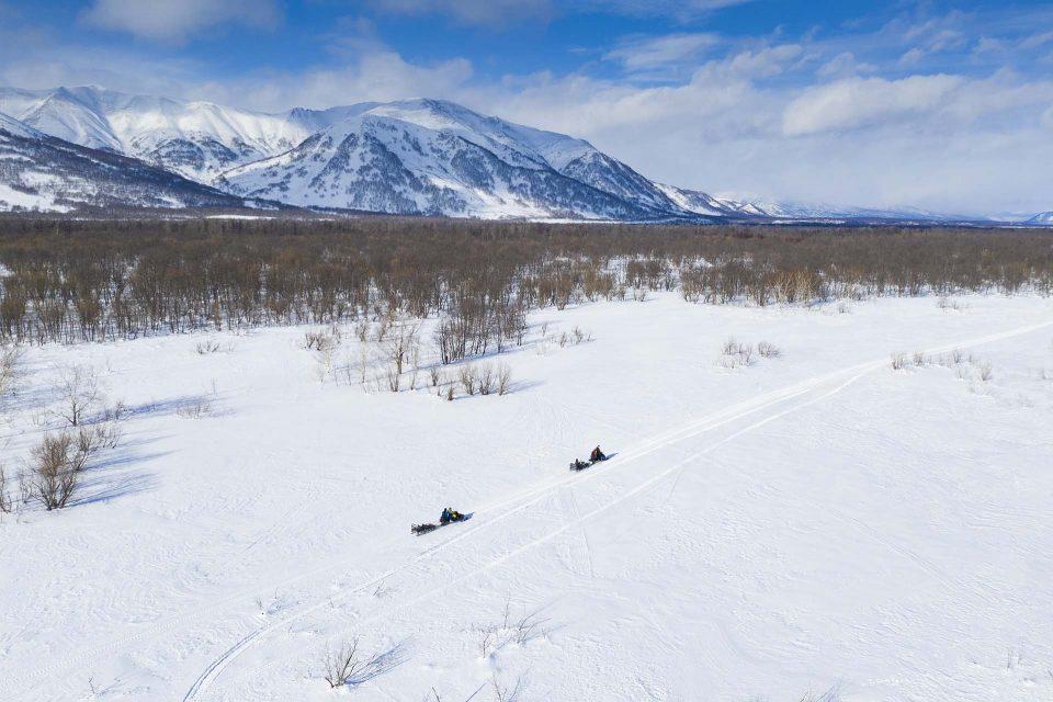 אופנועי שלג קמצטקה | snow mobile kamchatka