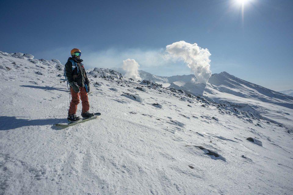 snowboarding kamchatka | גלישת סנובורד בקמצטקה